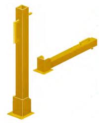 Fold Down Bollard Yellow
