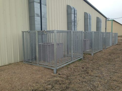 Roof Top A/C Security Cage
