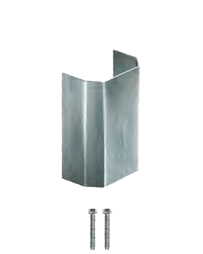Angled Wall Guard Galvanized 7""