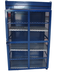Blue Cylinder Gas Cage