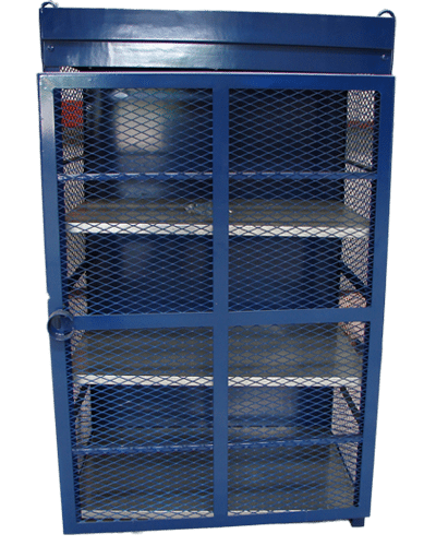 18 Count Blue Cylinder Cage Gas Cage